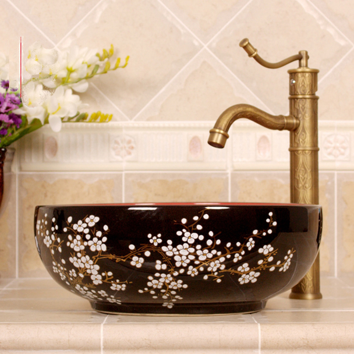 Купить с кэшбэком Various beautiful porcelain decoration ceramic bathroom washbasin toilet