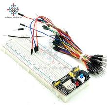 MB102 Power Supply Module 3.3V 5V + Breadboard Board 830 Point + 65PCS Jumper Cable