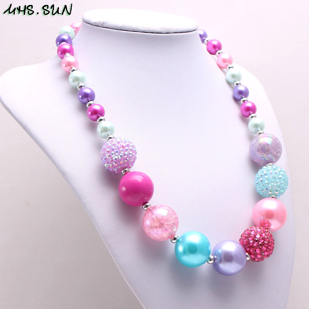 BN547-1 (6),$2.3. child chunky beads necklace colorful girls bubblegum necklace handmade jewelry for kids toy gift 1pcsJPG