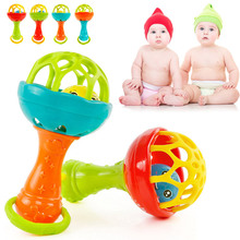 0-2 Years Baby Rattles Toy Teether Soft Plastic Funny Hand Bell Rattle Kids Birthday Gift  YJS Dropship цены
