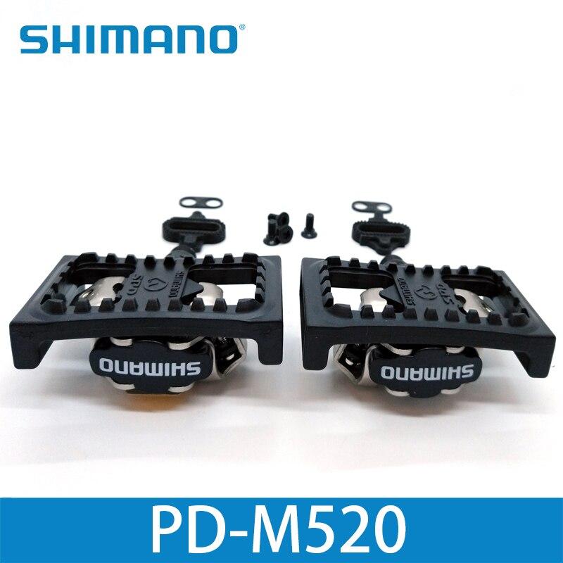 Shimano PD M520 pedales Clipless SPD MTB bicicleta carreras montaña bicicleta piezas PD-M520 - 3
