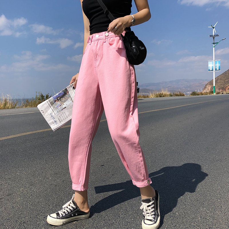 GUUZYUVIZ Casual Jeans Woman High Waist Loose Denim Harem Pants Mujer Plus Size Chic Jeans For Women Combinaison Pantalon Femme