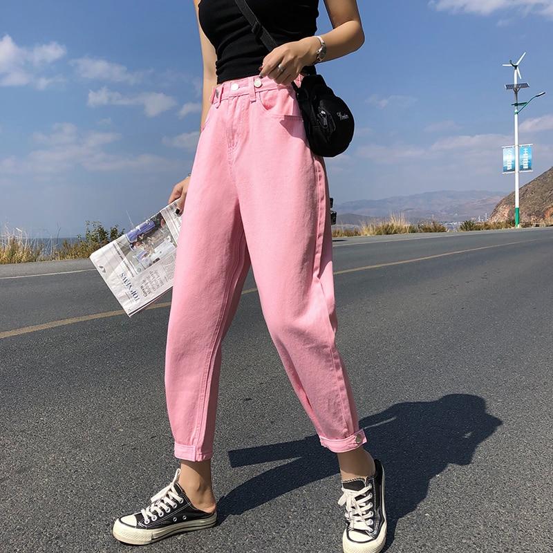 GUUZYUVIZ Casual   Jeans   Woman High Waist Loose Denim Harem Pants Mujer Plus Size Chic   Jeans   For Women Combinaison Pantalon Femme