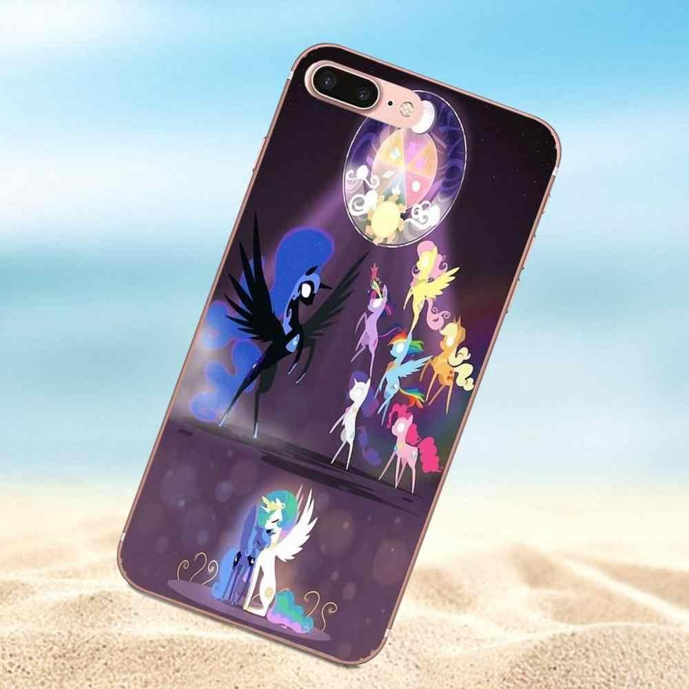 Qdowpz Cool My Little Pony Мягкие TPU Телефон Чехол Для Sony Xperia Z Z1 Z2 Z3 Z4 Z5 компактный Мини Премиум М2 M4 M5 T3 E3 E5 XA