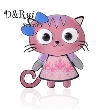 Enamel Cat Brooches For Women Lovely Fashion Animal Pins And Brooches High Quality Trendy Alloy Brooch Jewelry Party Gifts 2019