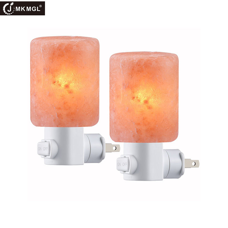 JMKMGL Salt Wall Lamp,Salt Night Light,Natural Himalayan Salt Rock Lamps,Salt Lamp Plug in,Mini Hand Carved Crystal Night Light icoco hot sale natural hand carved crystal salt light atmosphere night light for bedroom home decor birthday xmas gift wholeale