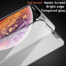 Xwmkai 2.5D Full Cover Frosted Matte Screen Protector Tempered Glass For Iphone X Xs max Xr 6 S 7 8 Plus 9H protection Film Good