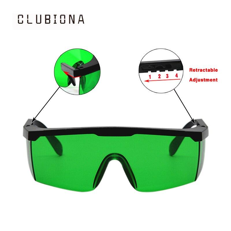 NESSUNA bava di Buona qualità telaio telescopico speciale per linee occhi occhiali di protezione laser rosso e verde