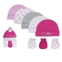 Детская одежда, шапки+ носки, весенне-летние хлопковые Товары для новорожденных, шляпы для мальчиков и девочек+ носки