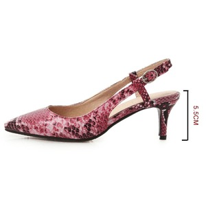 Image 3 - 2019 Spring Women Shoes Pumps Snake print High Heels Shoes Elegant Mid Heeled Sexy Pointed Toe Slingbacks Wedding Party Shoes