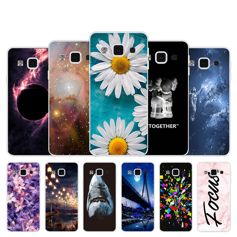 Soft TPU Case For Samsung Galaxy A3 A300 A300F A300H A3000 Chrysan Design Silicone Case For Galaxy A3 2015 Phone Cover Bags