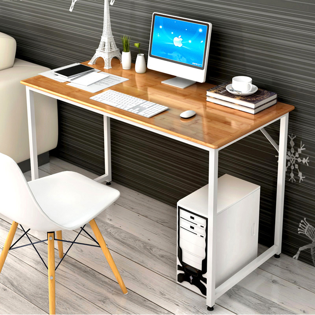 High Quality Modern Simple Office Computer Desk Environmental Protection Wooden Furniture Supplies