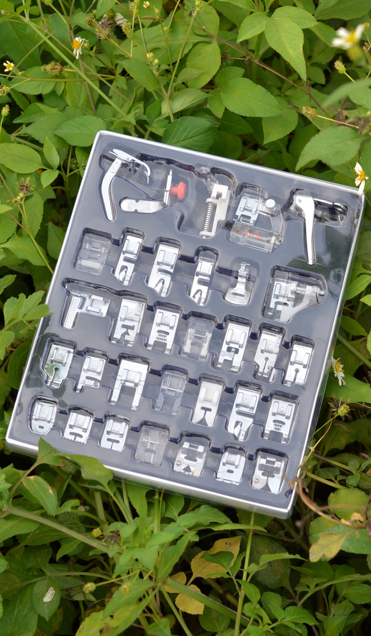 Home Sewing Parts 32 Piece Presser Foot Sew Accessories Press Feet For Brother Singer Toyota Domestic Sewing Machine