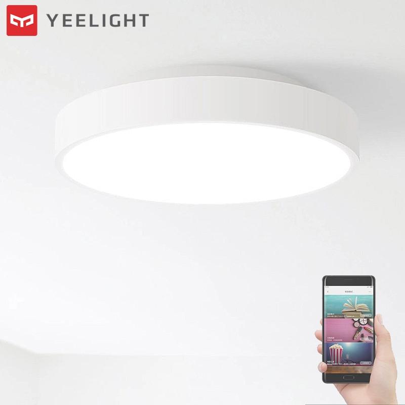 Xiaomi Yeelight 28W Round LED Ceiling Light Smart APP Bluetooth WiFi Control IP60 Dustproof for Smart Home Automation original xiaomi yeelight 28w round led ceiling light smart app bluetooth wifi control ip60 dustproof led ceiling lights for home