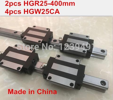 HG linear guide 2pcs HGR25 - 400mm + 4pcs HGW25CA linear block carriage CNC parts 2pcs sbr16 800mm linear guide 4pcs sbr16uu block for cnc parts