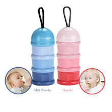 2PCS 3-Layer Portable Baby Milk Powder Container Baby Snack Candy Container Food Storage Box Dispenser for Infant Outdoor Use(China)