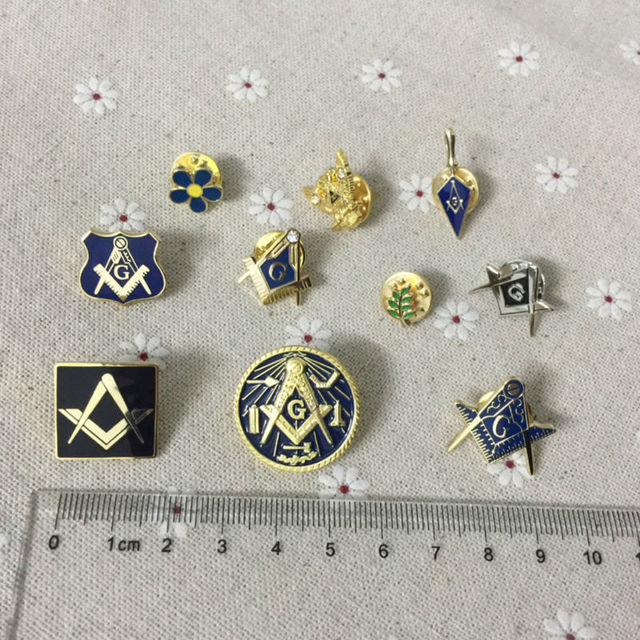 10 шт. различные значки для лацканов масонской
