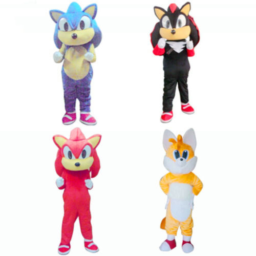Sonic the Hedgehog Mascot Costume Outfit Birthday Party Fancy Cosplay Dress