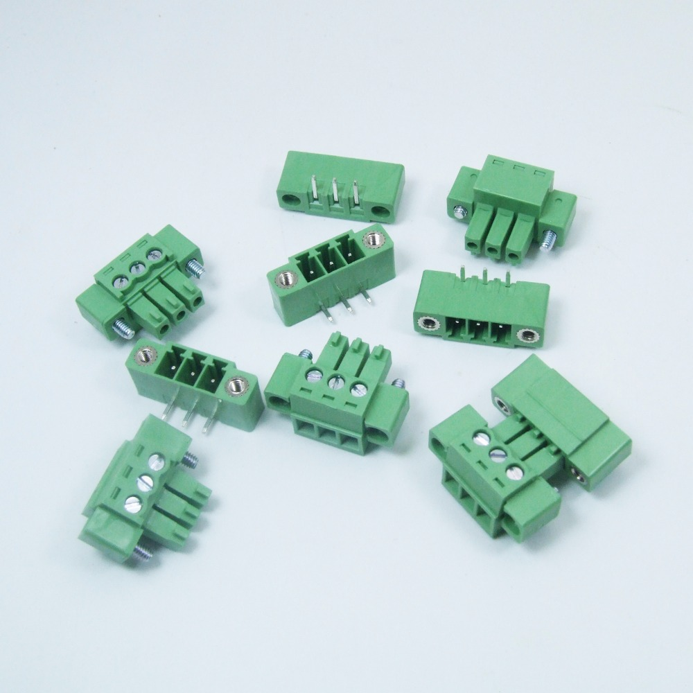 50pcs 3 Pin Screw Terminal Block Connector 5mm Pitch G