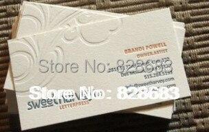 200 шт 2 цвета печатная бумага визитная карточка с тиснение логотипа-90* 54mm-350gms художественная бумага
