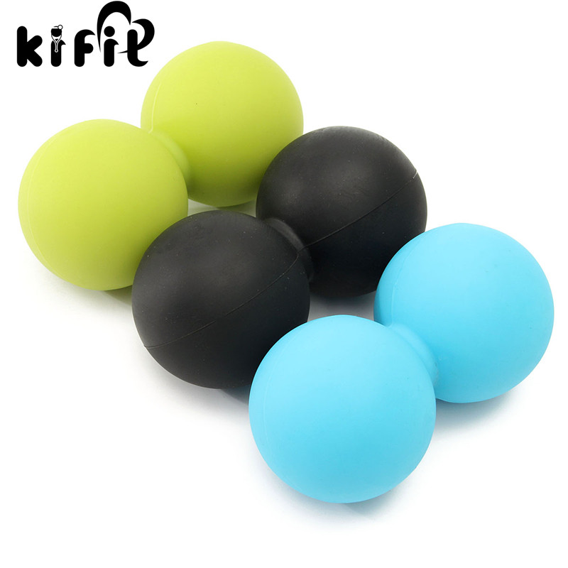 KIFIT 1PC Body Building Yoga Double Lacrosse Ball For Mobility Myofascial Trigger Point Release Massage Exercise Tools 3 Color gym crossfit fitness massage lacrosse ball therapy trigger full body exercise sports yoga balls relax relieve fatigue tools