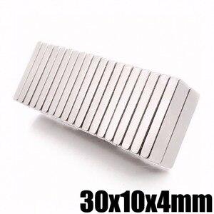 2/5/10/20/50PCS 30*10*4 Neodym Magnet 30x10x4mm Groß Super Starke Streifen Bar Magnete Seltene Erde 30X10X4