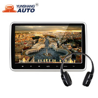 10.1 inches 1024*600 Car Headrest Monitor DVD Player Built in Hitachi Lens USB SD HDMI Port FM TFT LCD Touch Screen