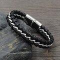 Chegada nova moda charme pulseira jóias presentes pulseiras de couro dos homens para o sexo masculino acessórios atacado frete grátis OTY898