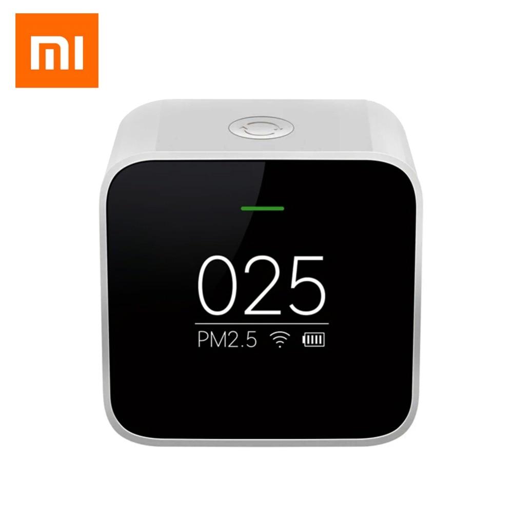 где купить Original Xiaomi Mijia PM2.5 Detector Air Quality Tester OLED Screen Air Purifier High-Precision Laser Sensor Smart Control APP дешево