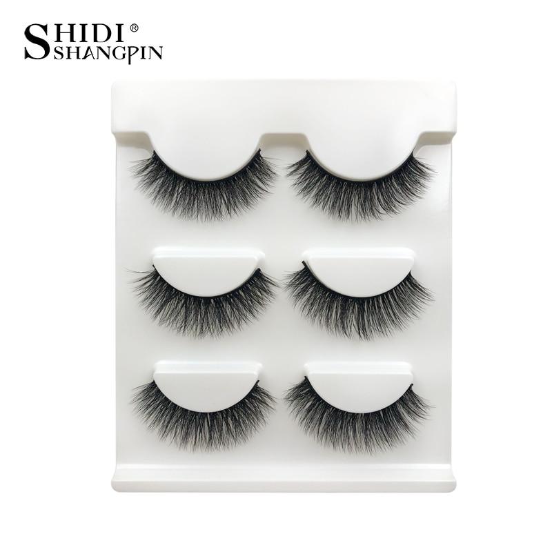 e86df64df27 SHIDISHANGPIN 1box 3d mink eyelashes natural long 3 pairs false eyelashes  hand made mink lashes eyelash extension make up X25