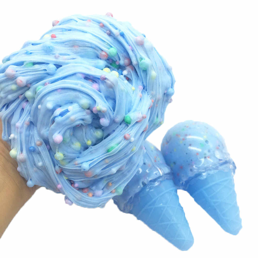 squishy Toy Ice Cream Mixing Cloud Slime Putty cotton mud squichy Scented Stress Kids Crystal Clay squishy food toys for adults