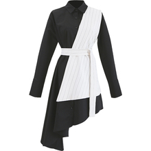 فستان كاجوال أنيق بأكمام طويلة وحزام على الخصر موديل الربيع