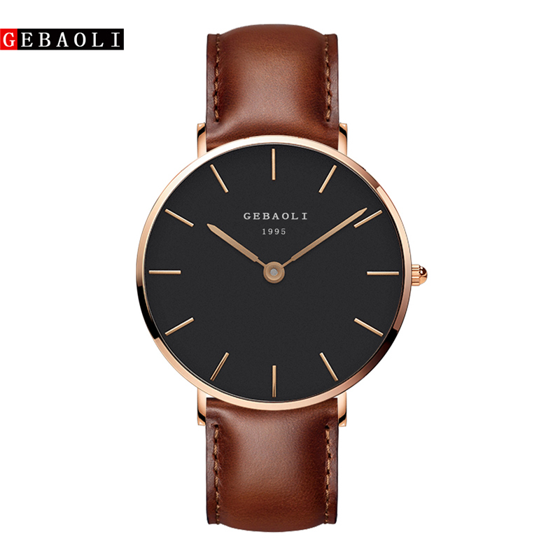 GEBAOLI 2019 Simple Casual Business Leather Strap Men's