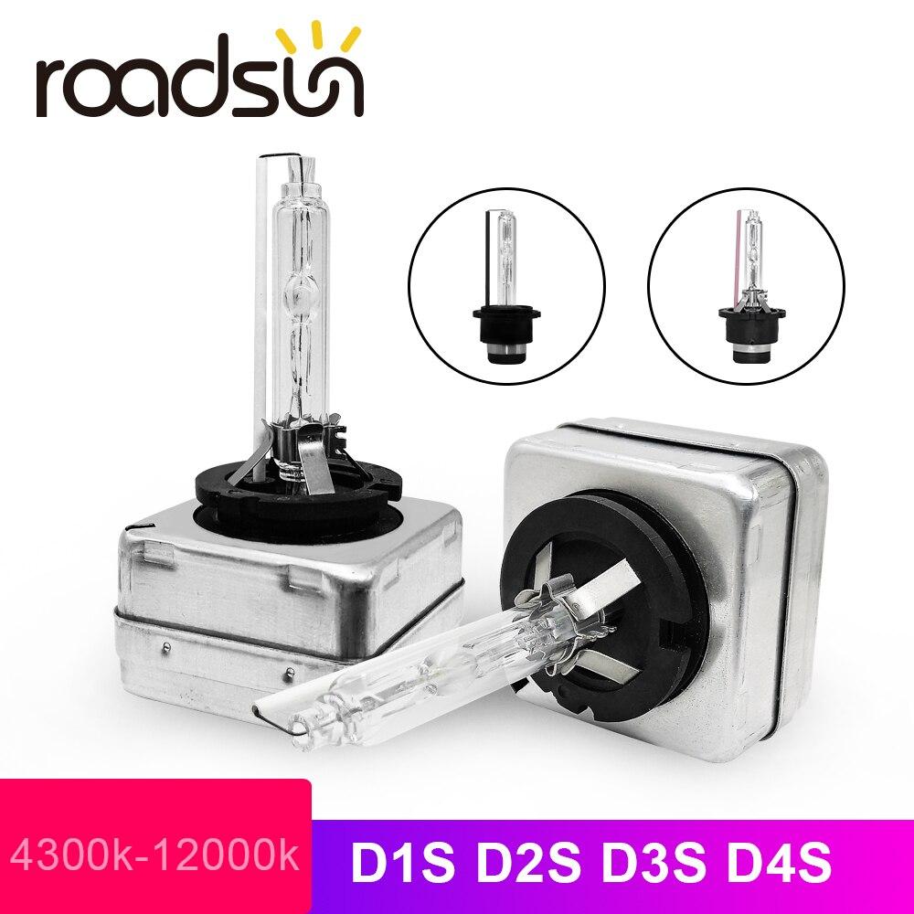 Roadsun Fast Start Xenon D1S 35W D2S 6000K D3S D4S Xenon HID Kit 4300K Headlight Bulb D1 D3 D4 D1R D2R D4R 8000K 10000K 12000K