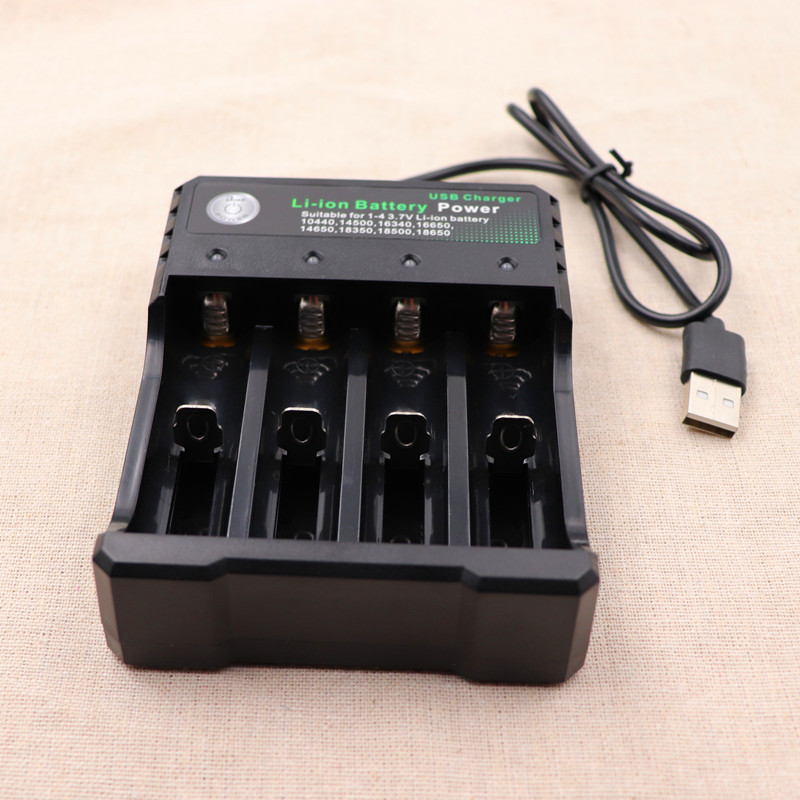 PINTTENEN USB18650 Battery Charger Fast Charging for18650 14500 16340 26650 Rechargeable Li-Ion Batteries auto stop charging