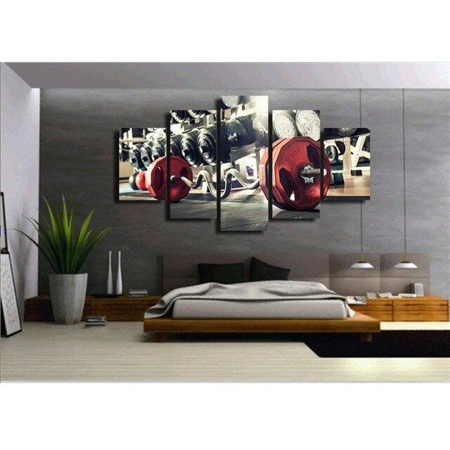 Attrezzature per il fitness canvas wall art astratta stampa home ...
