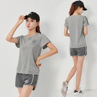 Summer Cotton Tracksuit Women Two Piece Set Short Sleeve T shirt & Shorts Suit 2pcs Jogging Fitness Sportswear Female Outfits