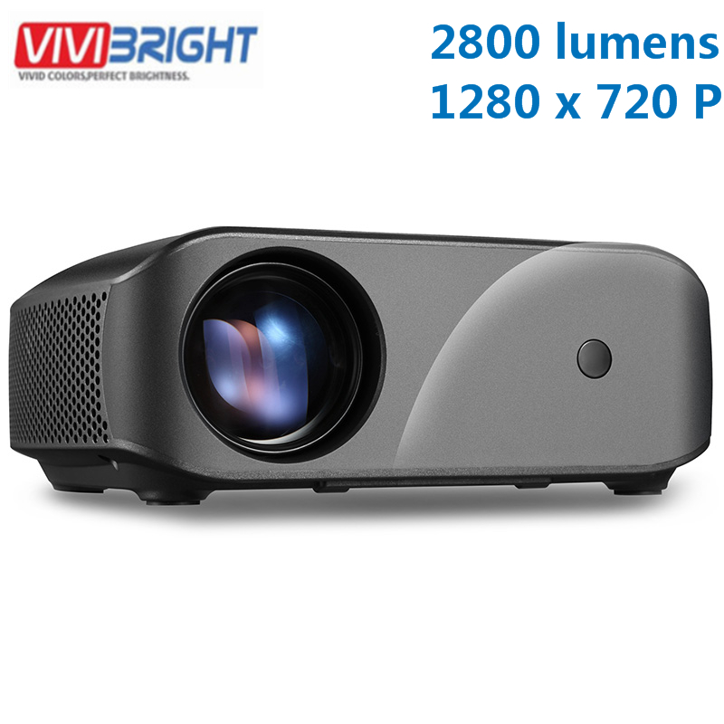 VIVIBRIGHT F10 LCD Projector 1280 x 720P 2800 Lumens 300 inch Screen Max Home Entertainment Proyector 3D Video LED Proyector