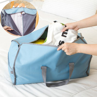 2 In 1 Travel Storage Organizer Cloth Suit Bag Wardrobe Hanging Suit Clothing Overcoat Dust Cover