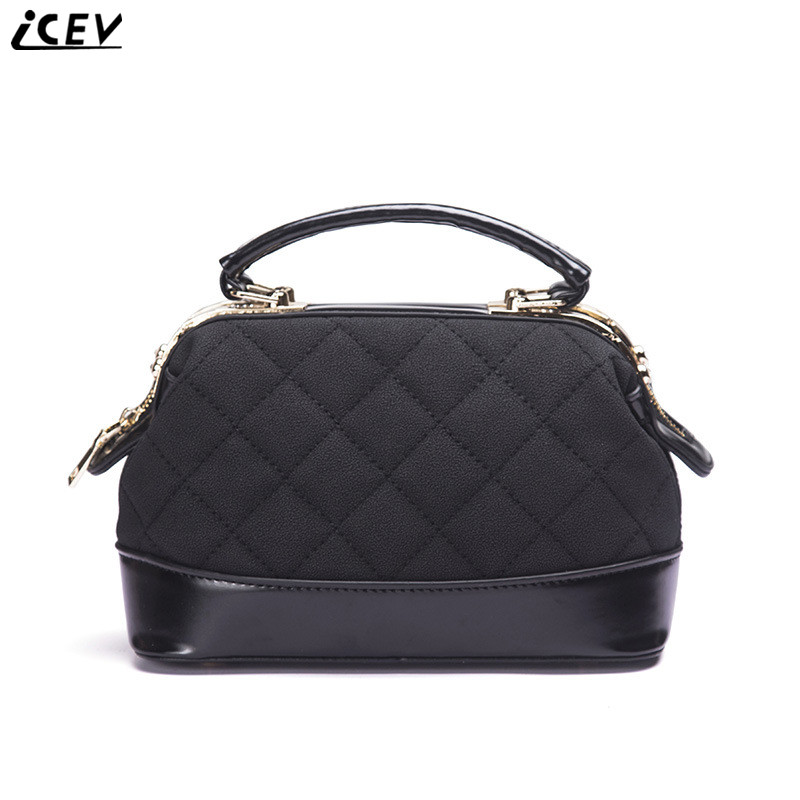 ICEV 2018 new fashion designer high quality shoulder quilted women leather handbags of famous brands boston messenger hand bag chispaulo women genuine leather handbags cowhide patent famous brands designer handbags high quality tote bag bolsa tassel c165