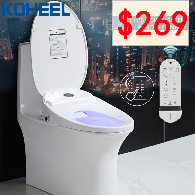 LCD Temperare display Intelligent Toilet Seat Smart Toilet Cover Automatic Electric Remote Toilet Body Bidet Cleaner