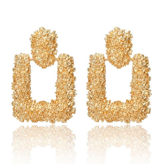 Fashion Statement Earrings 2018 Big Geometric earrings For Women Hanging Dangle Earrings Drop Earing modern Jewelry 3
