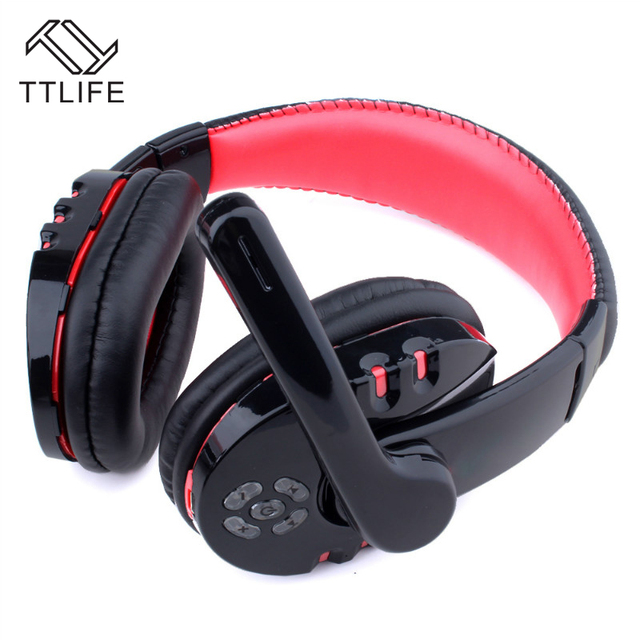 2017 TTLIFE Portable Wireless Headphones Gaming Bluetooth Earphones Stereo Headband Headsets With Mic For iPhone 7 xiaomi Phones