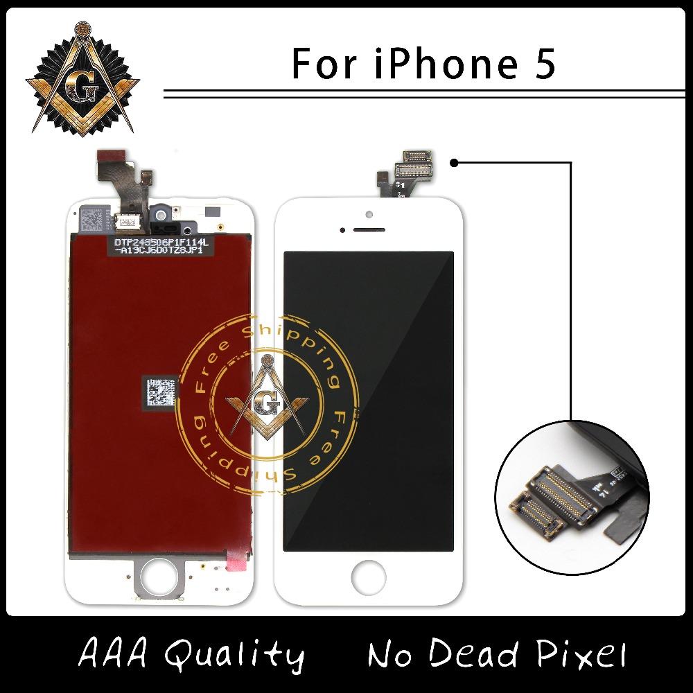 Prix pour 10 PCS/LOT AAA Qualité Écran Pour iPhone 5 5S 5C LCD Avec Digitizer Et Cadre Livraison Gratuite
