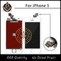 10 pçs/lote tela de qualidade AAA para o iPhone 5 LCD com digitador e enquadrar frete grátis