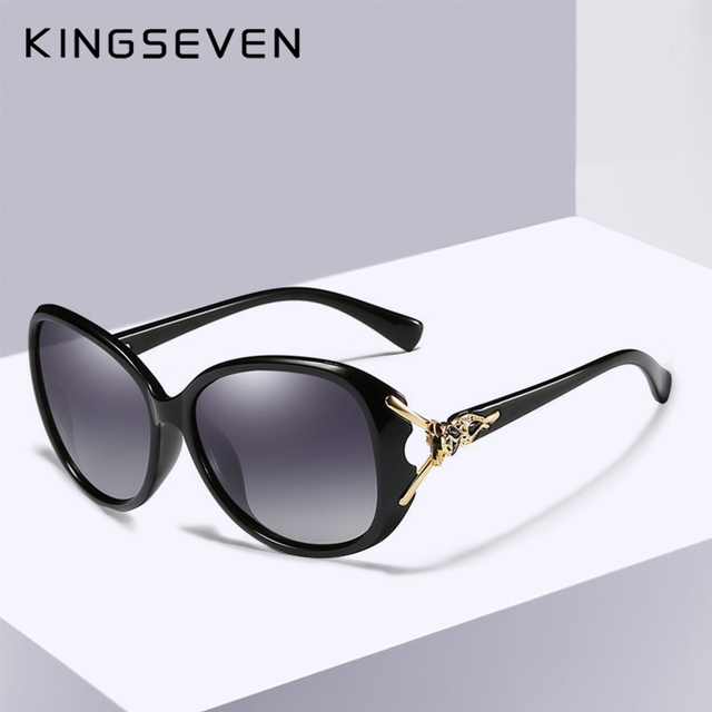 bf8ad84259e8c KINGSEVEN HD Sunglasses Polarized Retro Big frame Fox luxury Eyewear Lady  Brand Designer Sun glasses Oculos de sol