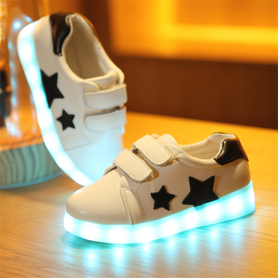Фото Kids Casual Shoes Child Colorful Led Light Wing Sapatos Fashion Sneakers Kids Girls Luminous Glowing Shoes For Boys 50Z0006
