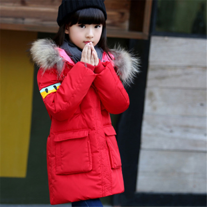 Boys Girls Duck Down Coat for Children Costume Winter Thick Warm Jacket Outwear 2017 New Casual Children's Parkas 10 11 12 13 14 russia winter boys girls down jacket boy girl warm thick duck down