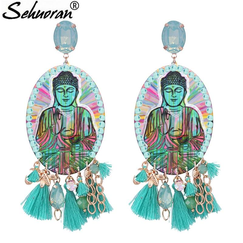 Женские серьги-капельки Sehuoran, серьги-кисточки с кристаллами попугаи, 2018