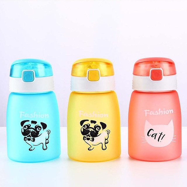 Baby Kid Non-spillable Mug Bottle with Straw Drinking Bottle Folding Straw Child Cup Sipper Bottle Feeding Training Cup 430ml